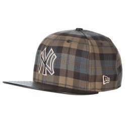 New Era New York Yankees 59Fifty Plaid grey/brown