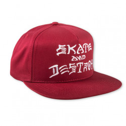 Thrasher Skate And Destroy blood red