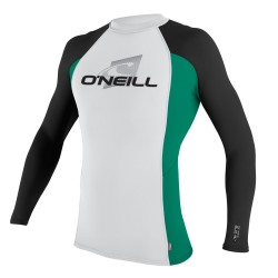 O'Neill Skins L/S Crew white/spruce/black