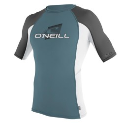 O'Neill Skins S/s Crew dusty blue/white/graphite