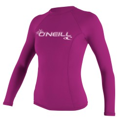 O'Neill Wms Basic Skins L/s Crew fox pink