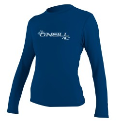 O'Neill Wms Basic Skins L/s Rash Tee deep sea