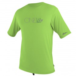 O'Neill Youth Skins S/s Rash Tee dayglo green
