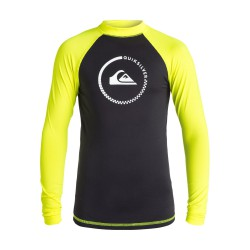Quiksilver Lock Up Ls black/safety/yellow
