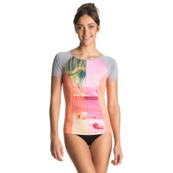 Roxy Four Shore SS sunkissed coral/heather grey