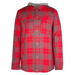 Armada Reading Flannel Hoody red