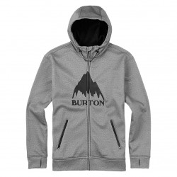 Burton Bonded Fz Hoodie monument heather