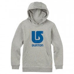Burton Boys Logo Vertical Pullover Hood grey heather