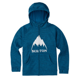 Burton Boys Oak Full-Zip Hoodie mountaineer heather