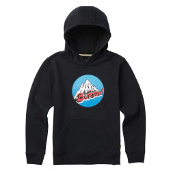 Burton Boys Retro Mountain Pullover Hoo true black