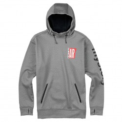 Burton Crown Bonded Pullover Hoodie monument heather air