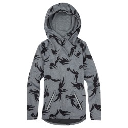 Burton Crystal Pullover Hoodie forged iron heather modern