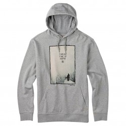 Burton Drop In Pullover Hoodie grey heather