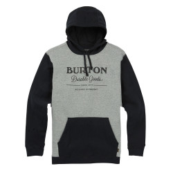 Burton Durable Goods Pullover Hoodie true black/grey heather