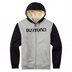 Burton Fireside Fz Hoodie grey heather