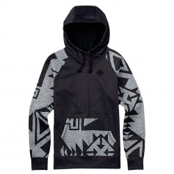 Burton Heron Pullover Hoodie true black heather