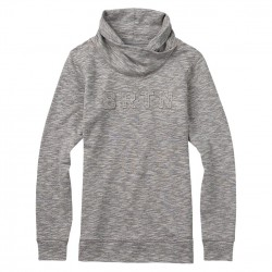 Burton Josie Mockneck Pullover grey heather