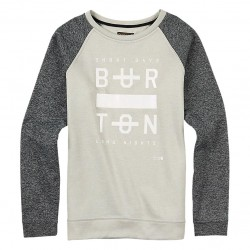 Burton Quartz Crew dove heather