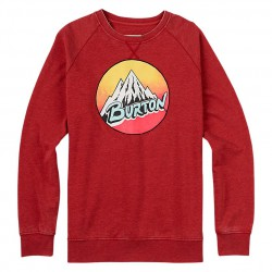 Burton Retro Mountain Crew brick red heather