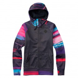 Burton Scoop Hoodie true black heather/flynn glitch