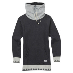 Burton Wms Fox Trot Funnel Pullover true black heather