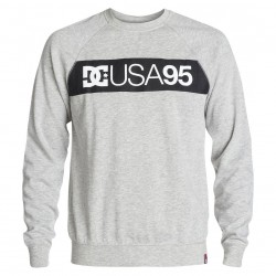 DC Rd Combo Crew Sweatshirt heather grey