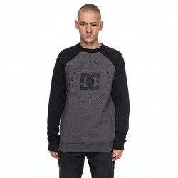 DC Rebuilt 2 Crew Raglan charcoal heather