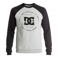 DC Rebuilt 2 Crew Raglan heather grey/black
