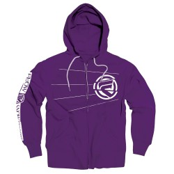 Flow Edge Zip Hoodie grape