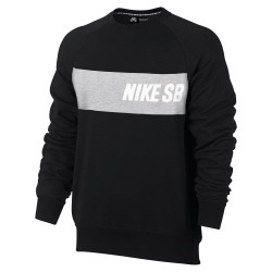Nike SB Everett Crew Top black/dk grey heather/white