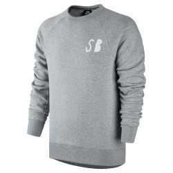 Nike SB Icon Graphic Fleece Crew dk grey heather/white