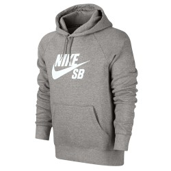 Nike SB Icon Hoodie dk grey heather/white