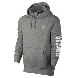 Nike SB Icon Hoodie Geo dk grey heather/white