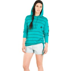 Nikita Heida Hoodie jet black/tropical green