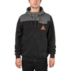 Nugget Coil Hoodie black/heather charcoal