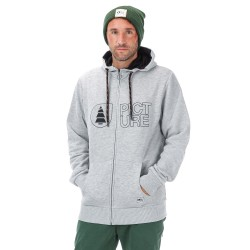 Picture Basement Zip grey melange