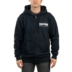 Thrasher Magazine Logo Zip Hood navy blue