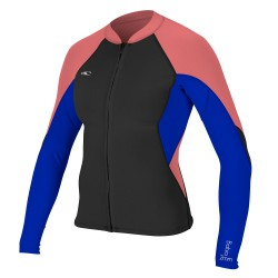 O'Neill Wms Bahia 1/0,5 Full-Zip Jacket black/tahitian blue/coral