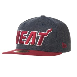 New Era Miami Heat 59Fifty Heather Ball navy/dark red