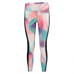 O'Neill Active Print 7/8 Legging pink aop w/ green