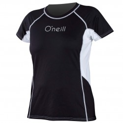 O'Neill Wms Colorblock Ss Rash black/black/white