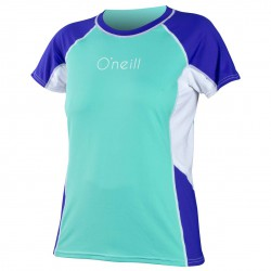 O'Neill Wms Colorblock Ss Rash spy glass/cobalt/white
