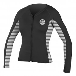 O'Neill Wms Print L/s Full Zip black/rio stripe/black