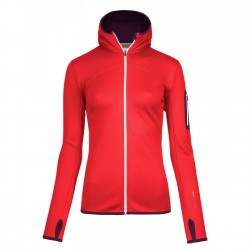 Ortovox Fleece Hoody Wms hot coral