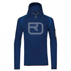 Ortovox Fleece Logo Hoody strong blue