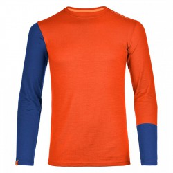 Ortovox Rock'n'wool Long Sleeve crazy orange