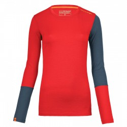 Ortovox Rock'n'wool Long Sleeve WMS hot coral