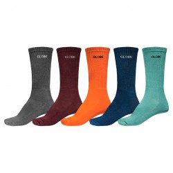 Globe Kensington Crew Sock 5 Pack assorted