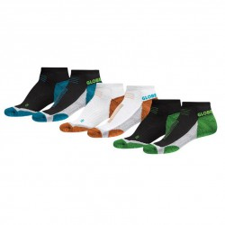 Globe Left And Right Sock 3 Pack assorted