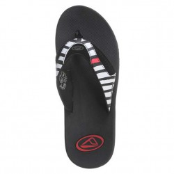 Reef Fanning Prints black/stripes